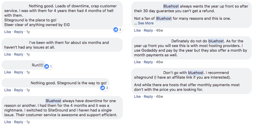 switch to siteground - bluehost reviews