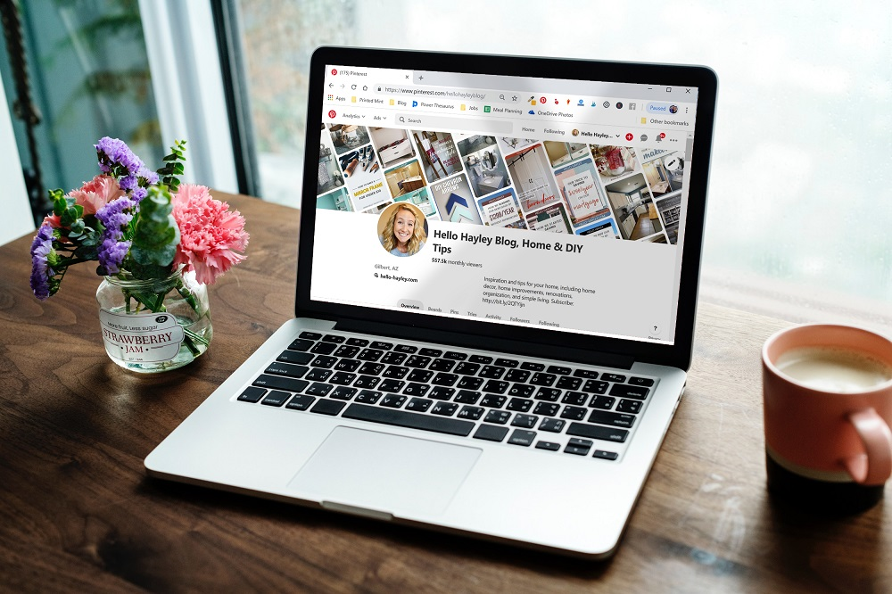 2019 email marketing guide - email marketing strategies for blogger - pinterest on laptop