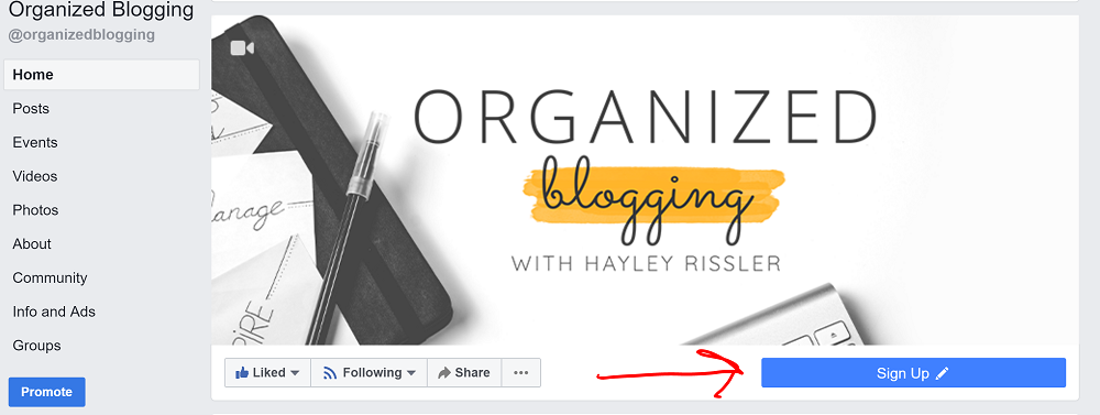email list building strategy - button in facebook group