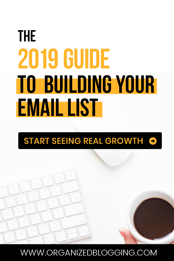 email list building strategies for beginners and bloggers, pinterest pins